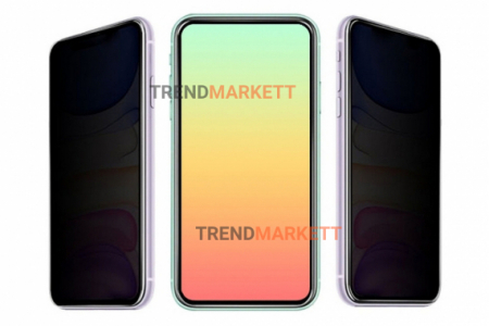 Защитное стекло АНТИШПИОН для iPhone 6/6S черное «PRIVACY»