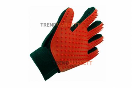 Перчатки для вычесывания шерсти red