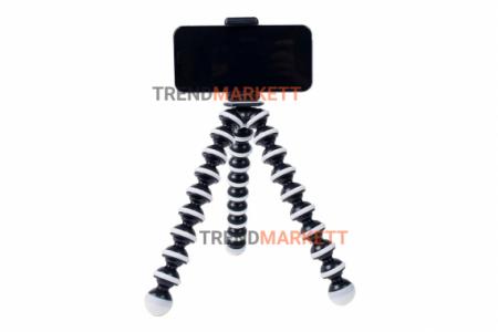 Штатив гибкий / Трипод для телефона ISA Осьминог 25 см с держателем, FLEX-25