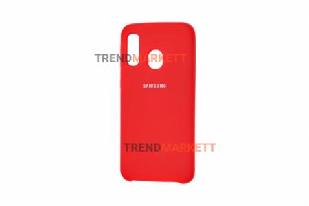 Чехол для Samsung A20/A30 «Silicone Cover» красный