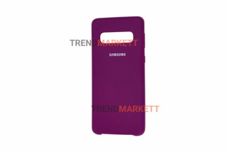 Чехол для Samsung S10 «Silicone Cover» фиолетовый