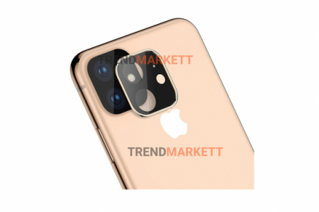 Защитное стекло на камеру для iPhone 11 Pro/Pro Max «Hoco» золото