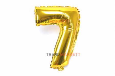 Шар цифра «7» золото