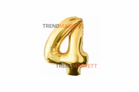 Шар цифра «4» золото
