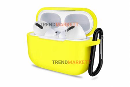 Чехол для AirPods Pro Smart Case с карабином Yellow