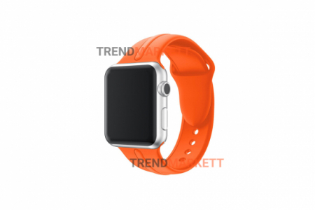 Ремешок для часов силиконовый оранжевый Apple Watch 42/44 mm