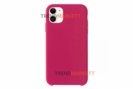 Силиконовый чехол (Silicon case) для iPhone 12/12 PRO Малиновый
