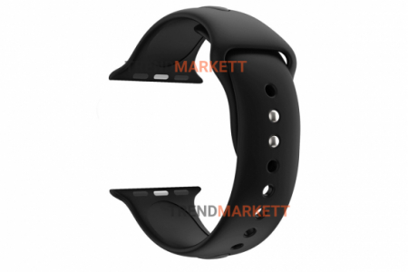Ремешок для часов силиконовый черный Apple Watch 42/44 mm