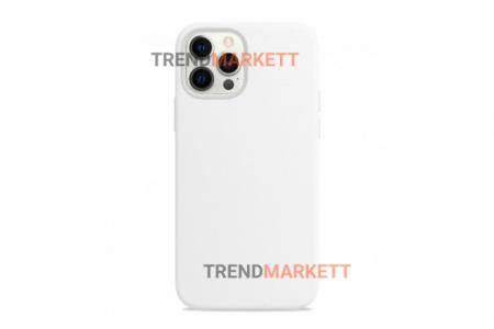 Силиконовый чехол (Silicon case) для iPhone 12/12 PRO Молочный