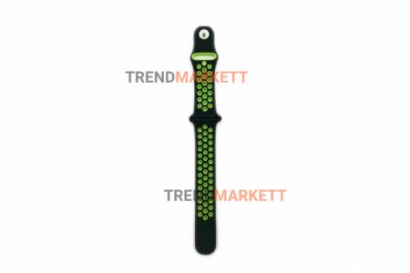 Ремешок для часов Apple Watch 42/44mm Sport Band черный/салатовый