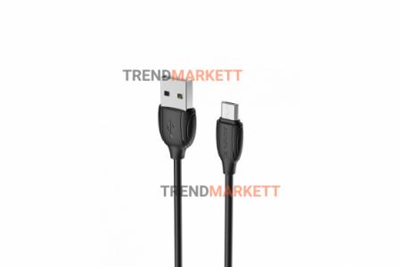 Кабель USB - MicroUSB «Borofone BX19 Benefit» 1 м., черный