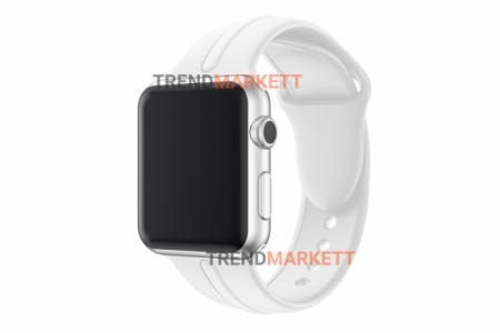 Ремешок для часов силиконовый белый Apple Watch 38/40 mm