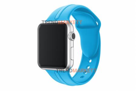 Ремешок для часов силиконовый голубой Apple Watch 38/40 mm