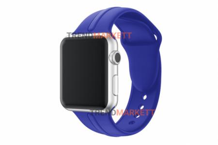 Ремешок для часов силиконовый синий Apple Watch 38/40 mm