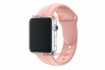 Ремешок для часов силиконовый пудра Apple Watch 42/44 mm