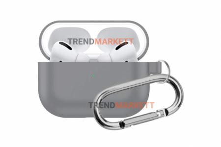 Чехол для AirPods Pro Smart Case с карабином Gray