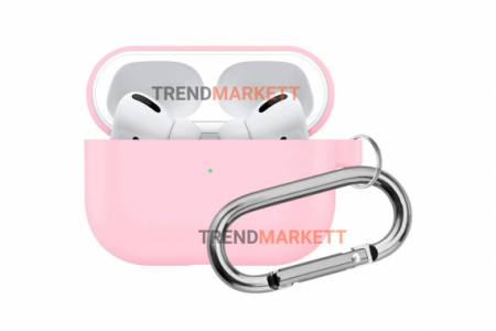 Чехол для AirPods Pro Smart Case с карабином Pink
