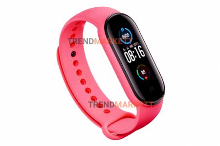 Ремешок для часов miBand 3/4 силиконовый розовый