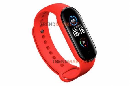 Ремешок для часов miBand5 силиконовый красный