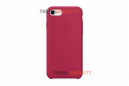Силиконовый чехол (Silicon case) для iPhone 6/6S Малиновый