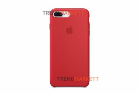 Силиконовый чехол (Silicon case) для iPhone 7 PLUS/8 PLUS Красный
