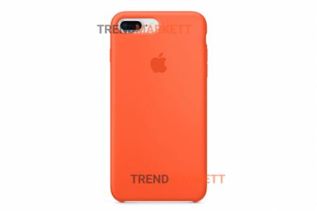 Силиконовый чехол (Silicon case) для iPhone 7 PLUS/8 PLUS Оранжевый