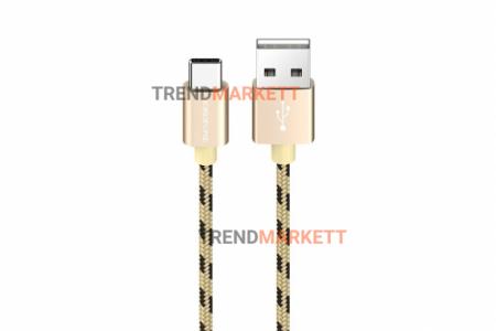 Кабель USB - Type-C «Borofone BX24» 1 м., золотистый
