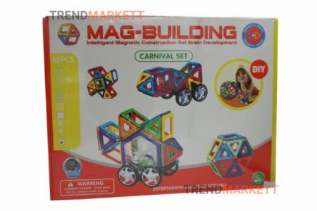 Конструктор магнитный «MAG-BUILDING» 48 предметов