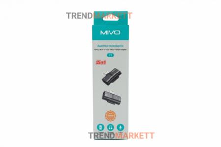 Адаптер-переходник 2 в 1 для iPhone «MIVO L1»