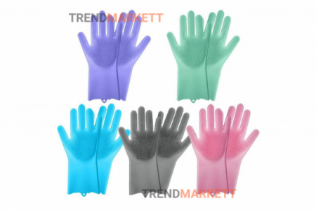 Универсальные силиконовые перчатки для уборки