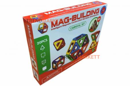 Магнитный конструктор MAG BUILDING (20 деталей)