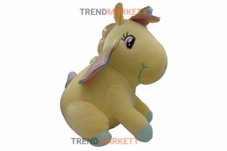 Мягкая игрушка «Желтый единорог» 35 см