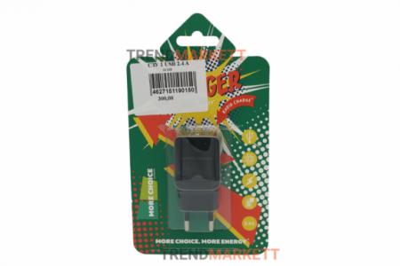 Сетевое зарядное устройство «COTA» 1 USB 2.4A