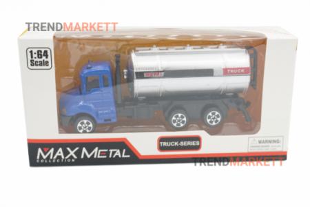 Металлический грузовик «MAX METAL ЦИСТЕРНА» синий