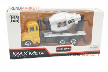 Металлический грузовик «MAX METAL БЕТОНОМЕШАЛКА»