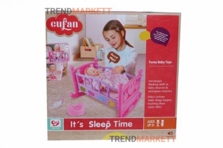 Кукла с кроваткой «It's Sleep Time»