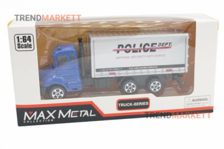 Металлический грузовик «MAX METAL ПОЛИЦЕЙСКИЙ ГРУЗОВИК»