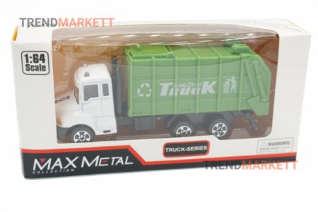 Металлический грузовик «MAX METAL МУСОРОВОЗ»