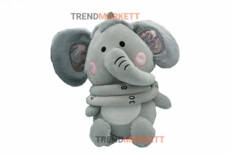 Мягкая игрушка-ростомер «Серый слон»