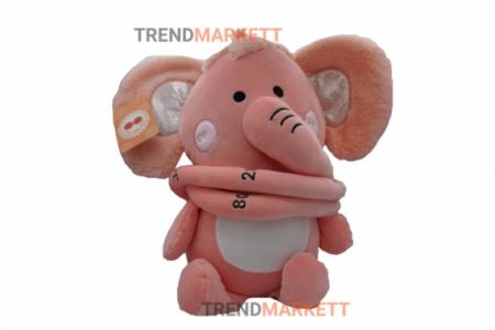 Мягкая игрушка-ростомер «Розовый слон»