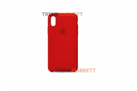 Силиконовый чехол (Silicon case) для iPhone XS MAX Красный