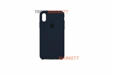 Силиконовый чехол (Silicon case) для iPhone XS MAX Синий