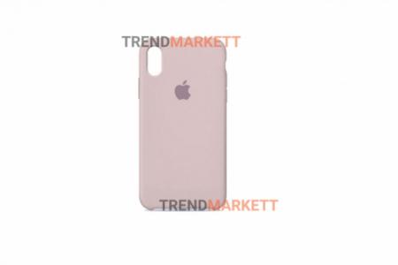 Силиконовый чехол (Silicon case) для iPhone XS MAX Пудра