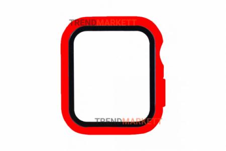 Стекло-чехол для Apple Watch 38 mm красный