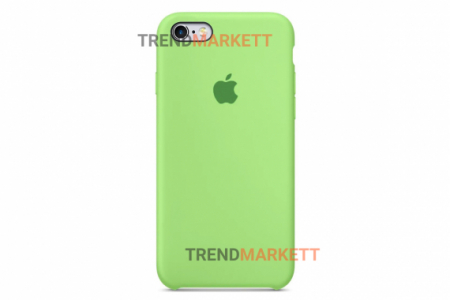Силиконовый чехол (Silicon case) для iPhone 6/6S Салатовый