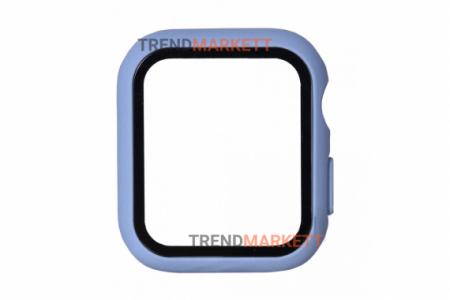 Стекло-чехол для Apple Watch 38 mm синий