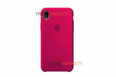Силиконовый чехол (Silicon case) для iPhone XS MAX Малиновый