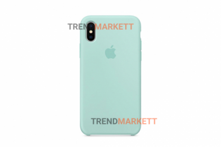 Силиконовый чехол (Silicon case) для iPhone XS MAX Мятный