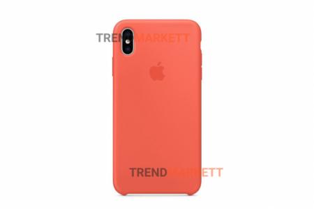 Силиконовый чехол (Silicon case) для iPhone XS MAX Оранжевый
