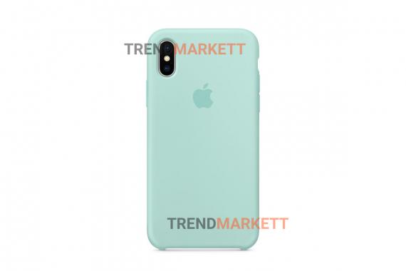 Силиконовый чехол (Silicon case) для iPhone XR Мятный